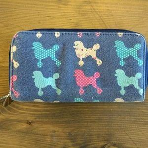 Canvas poodle wallet
